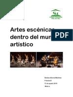 Artes Escénicas Dentro Del Mundo Artístico