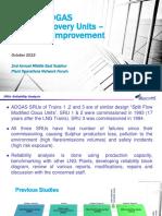 1. ADGAS SRUs - Reliability Improvement -- Khalfan Al Abdouli -- ADGAS
