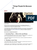 15 Things People Do Because of Depression