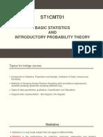 Bridge course for statistics