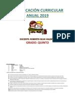 Planificación Curricular Anual 2019- Roberto Silva