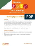 making space workshop flyer