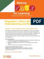 regulation workshop flyer