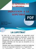 INDUCCION A LA LOPCYMAT