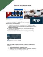 Math , Good Practices en Cuba