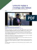 Advierten Presunto Reglaje a Fiscal Que Investiga Caso Ilabaya