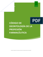 2018 Codigo Deontologia Profesion Farmaceutica CGCOF