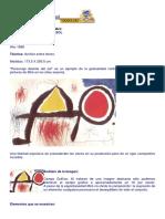 Análisis de La Obra de Jean Miró