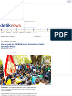 Merangsek Ke DPRD Kalsel, Mahasiswa Jebol Barikade Polisi