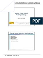 Issues on Precast Modeling and Design