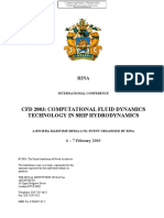 - CFD 2003 - Computational Fluid Dynamics Technology in Ship Hydrodynamics-The Royal Institution of Naval Architects (2003)