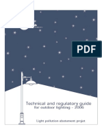 Technical and Regulatory Guide for Outdoor Lighting