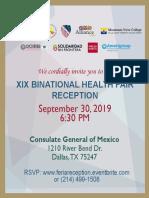 DATX - XIX Binational Health Fair Reception Invite