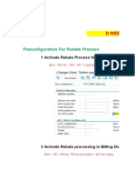 SAP SD Rebate Process