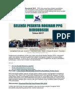 7 Keuntungan Ikut Program PPG Bersubsidi 2018