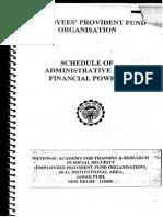 Delegation AdmnFinPowers EPFO