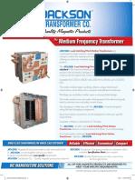 Medium Frequency TransformerBrochure