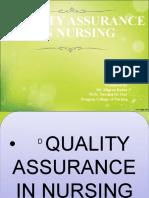 qualityassuranceinnursing-160313083505