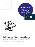 Minutes for Meetings