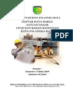Harga Satuan Upah & Bahan Smt 1 2019