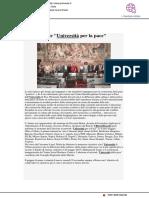 """Urbino fra le """"Università della Pace"""" - Primarete.it, 26 settembre 2019"""