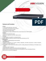 Datasheet of DS-7600NI-Q2 NVR