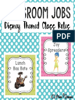 Disney Classroom Roles Jobs Cards