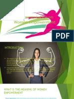 A Presentation on Women Empowerment (1)