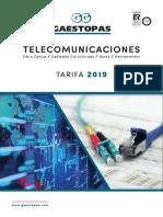 201908 Gaestopas Tarifa Teleco 2019