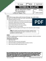 XJ413-02 Multiple Warnings on Instrument Cluster