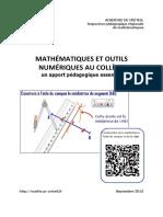 Maths Et Outils Numeriques Au College Creteil2013-2