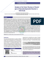 Development and Analysis of the Factor Structure o