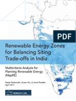 Renewable Energy Zones for Balancing Siting Trade-offs in India