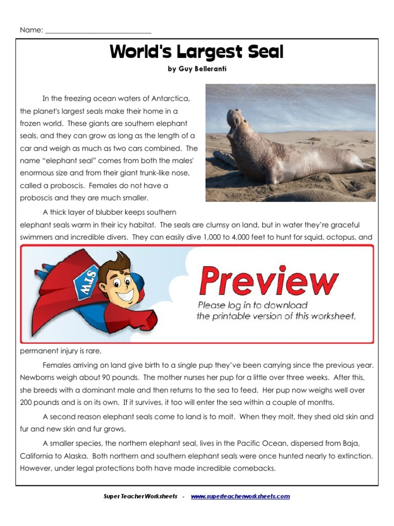 English Story Pinniped Marine Mammals