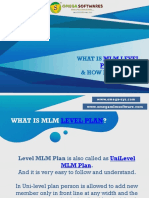 What Is Unilevel MLM Plan and how its work