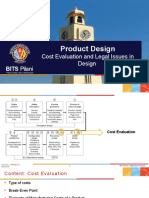 De G531 - Cost Analysis and Legal Issues in Design