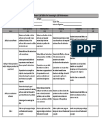 Software Lab Assessment Rubric