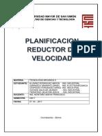 Planificacion Del Reductor de Velocidad