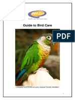 AWLQ Guide to New Owners Bird Care