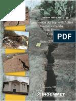 REACTIVACIÓN DEL SEGMENTO ACTIVO MISCA-CUSIBAMBA FALLA PARURO