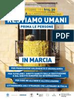 Restiamo umani - prima le persone Brescia 12 ottobre 2019