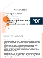 4.Valuation of Securities (1)