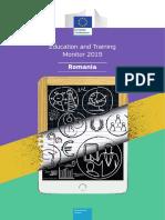 Monitorul Comisiei Europene pe Educatie si Formare 2019 - Raportul privind Romania