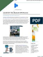sub-$50 DIY 10hz Bluetooth GPS Receiver - Did It Myself