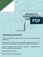 Clase 5 Transformación Algebraica ...Presentacion (1)
