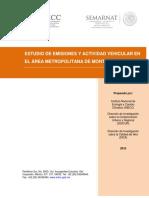 Estudio de Emisiones y Actividad Vehicular en El Área Metropolitana de Monterrey