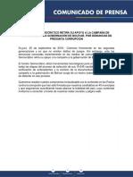 Comunicado Bolívar - 25-09-19
