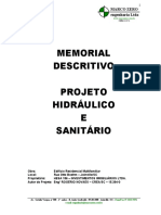 Memorial Descritivo de Projeto Hidrossanitário EIV Hesa 156