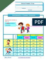 Determinantes e Pronomes