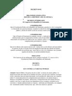 DECRETO 48-92 Ley Contra La Narcoactividad y Sus Reformas